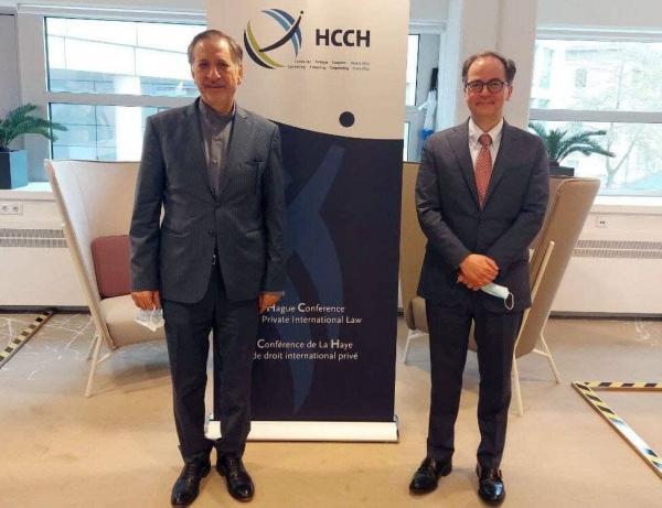 دیدار معاون ظریف با دبیرکل سازمان کنفرانس حقوق بین الملل خصوصی لاهه